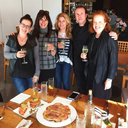L-R: Melinda Strauss, Naomi Nachman, Amy Kritzer, Chef David Teyf, moi