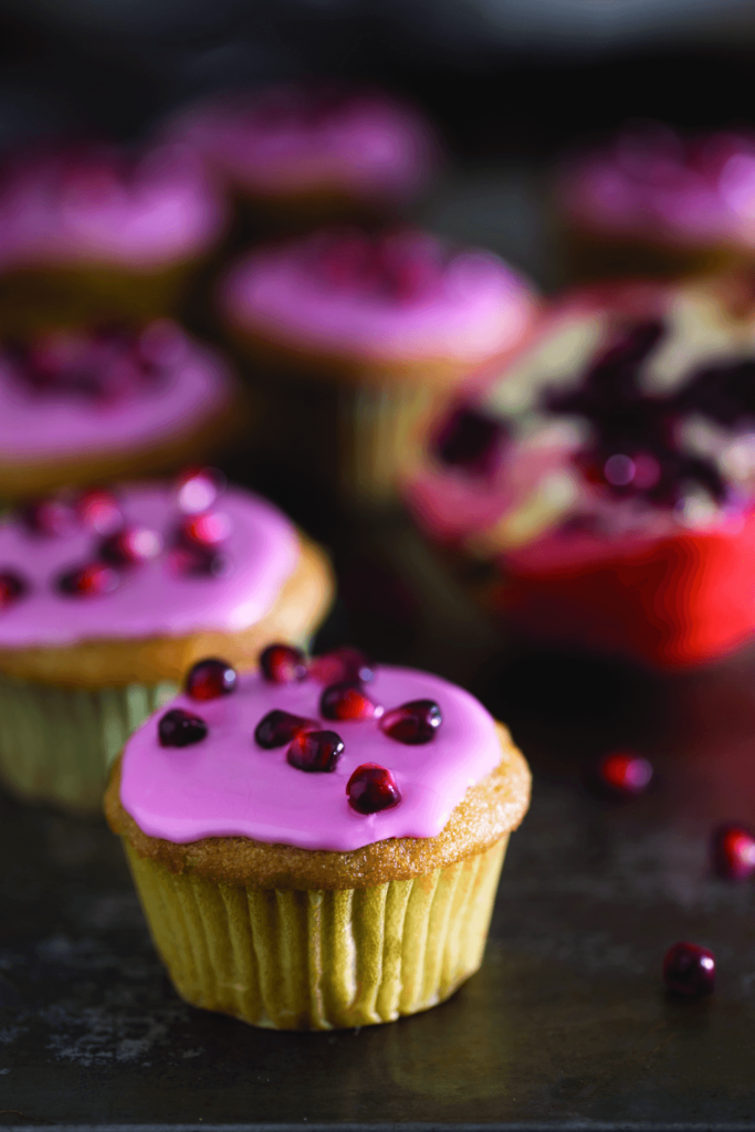 pomegranate-cupcakes