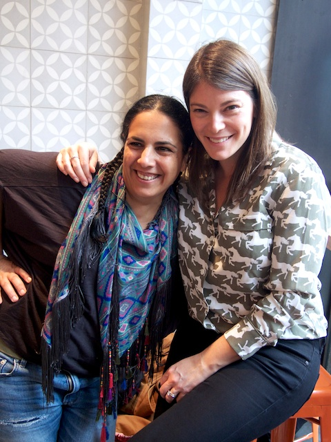 Einat and Gail Simmons; photo courtesy of Taim, NYC