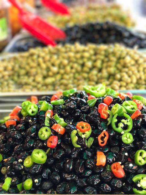 olives Carmel Market Tel Aviv