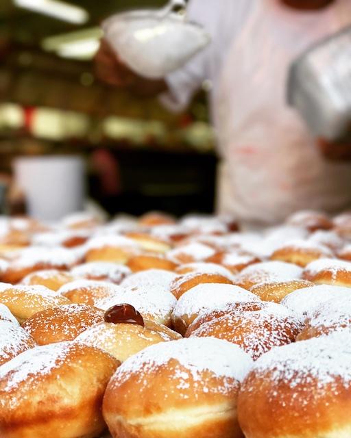 Israeli donuts in Tel Aviv Chanukah