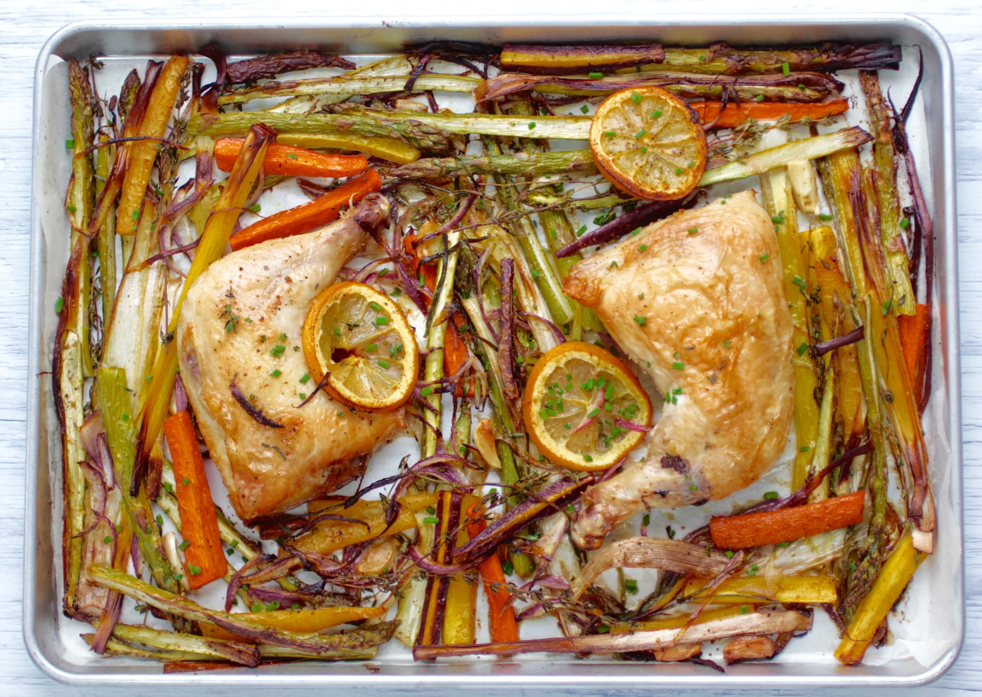 Easy Sheet Pan Chicken with Spring Vegetables