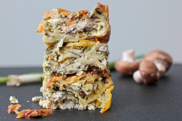 Savory Mushroom Cheese Kugel for Shavuot