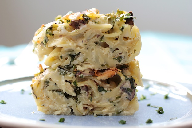 savory mushroom cheese kugel jewish holiday shavuot