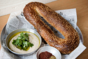 Jerusalem bagel, Nur, NYC - Kosher Like Me