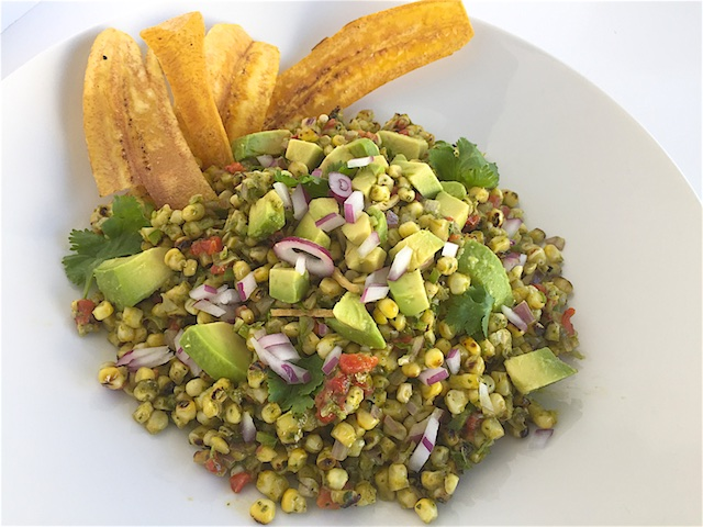 Do- Ahead Grilled Corn & Avocado Salad