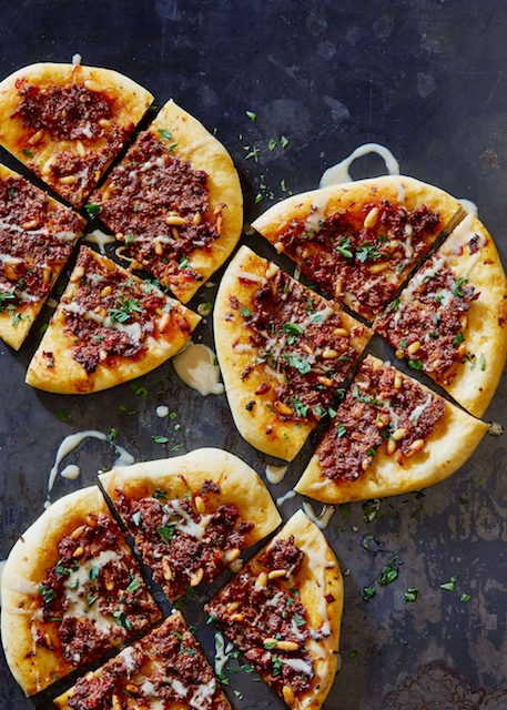 Middle Eastern kosher meat flatbreads