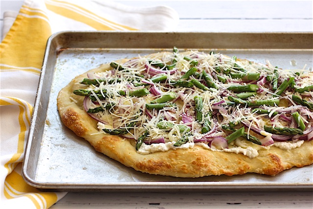 kosher asparagus pizza
