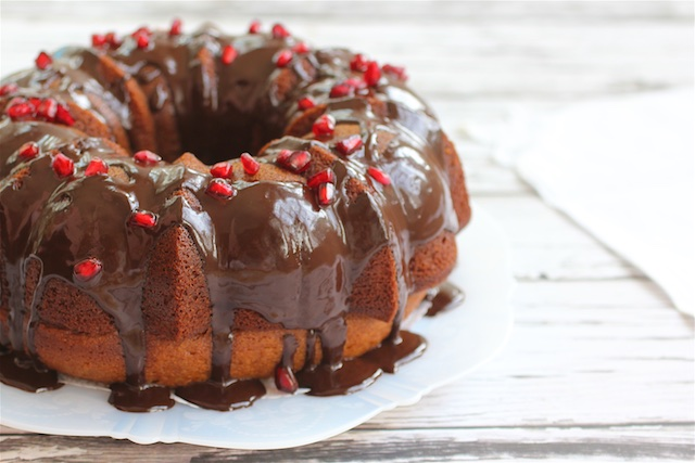 Holiday Honey Cake & Chocolate Honey Glaze