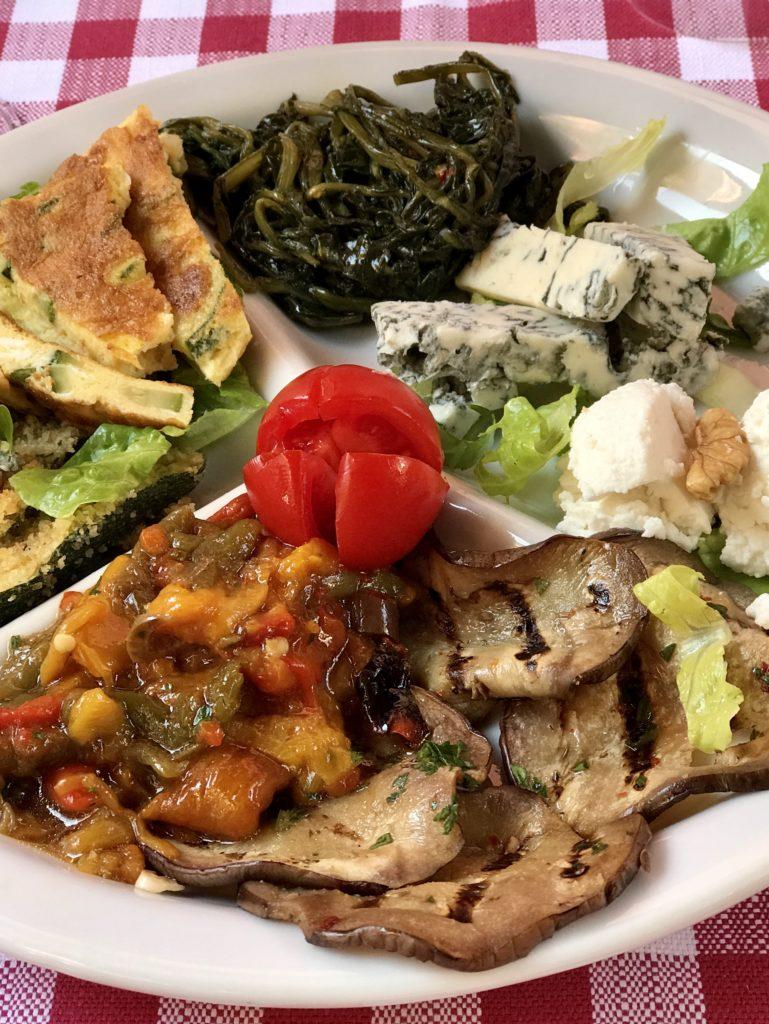 Roman vegetarian antipasti
