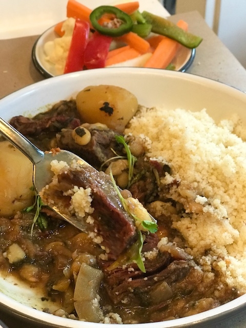 kosher short ribs with couscous Kish Kash NYC