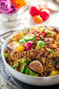 Wheat berry salad vegan kosher