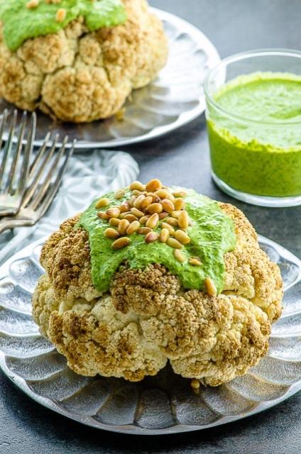 vegan kosher cauliflower green tahini