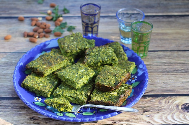vegetarian Persian greens frittata Passover or Purim