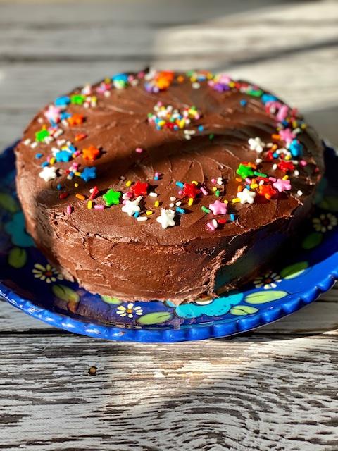 Classic yellow birthday cake Kosher Like Me