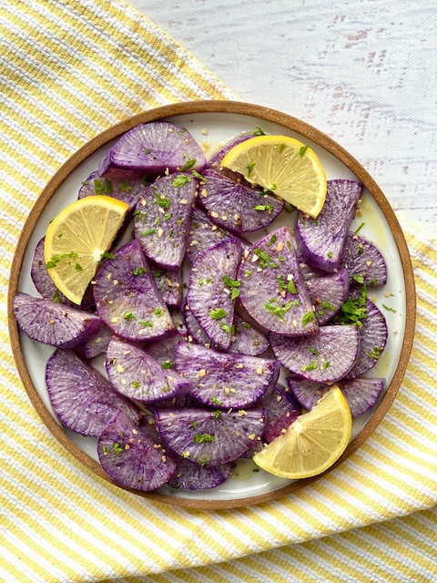 Roasated purple daikon Thanksgiving