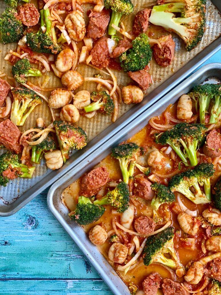 Sheet Pan kosher sausage and broccoli Kosher Like Me