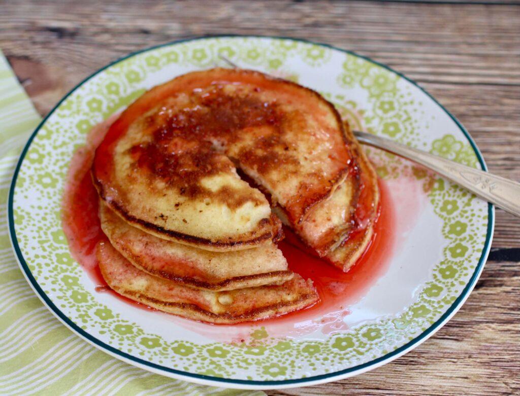 Shavuot pancakes June Hersh