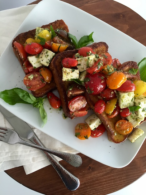 Savory French Toast for Salad Loving Moms