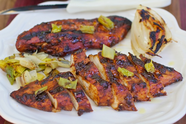 Grilled Chicken with Smoky Molasses BBQ Glaze