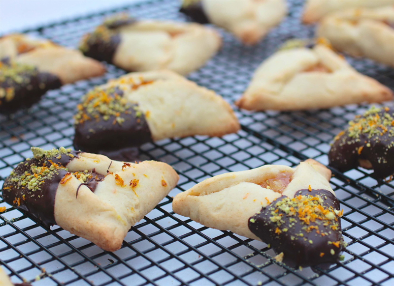 Chocolate Glazed Hamantaschen Inspired by Southern Citrus