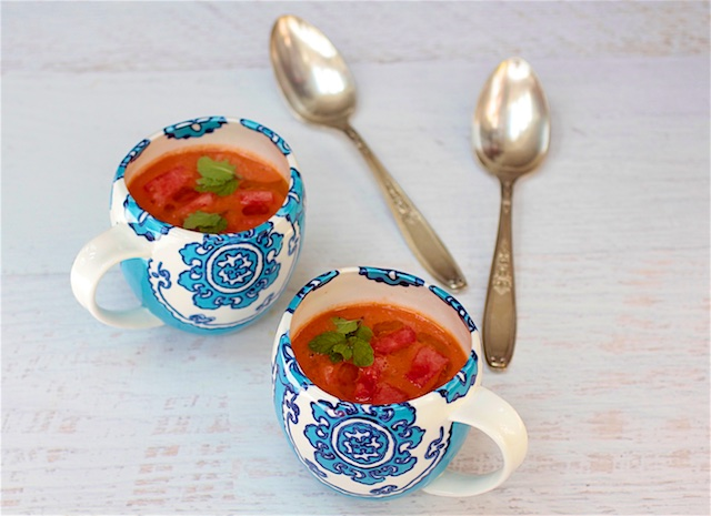 Watermelon Gazpacho Cools Perfectly on Sizzling Summer Days