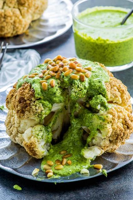 Tahini & Turmeric; Whole Roasted Cauliflower