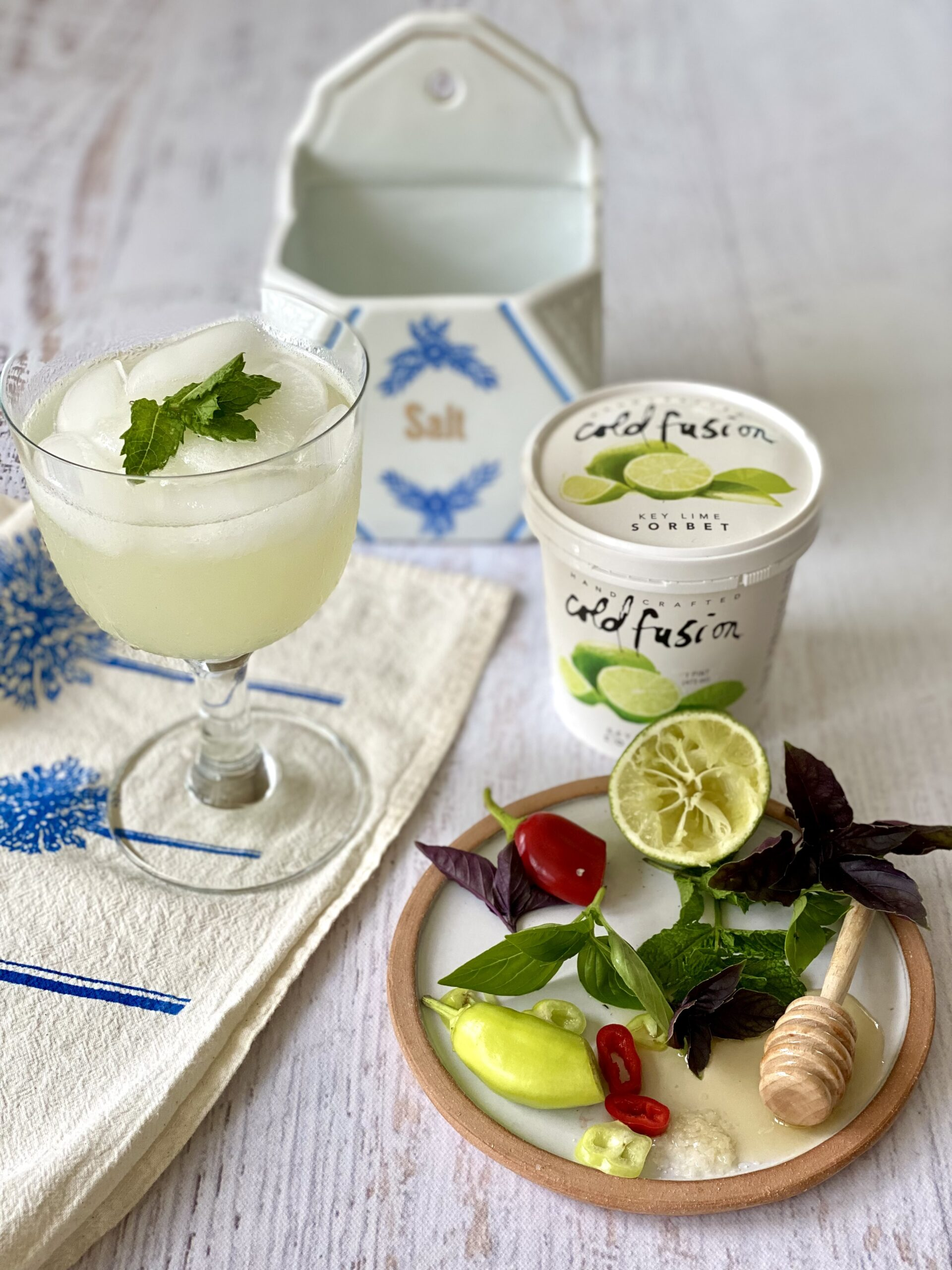 Key Lime Sorbet Cools your Margarita